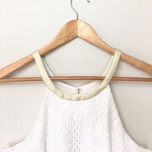 LILY PULITZER white lace sleeveless dress